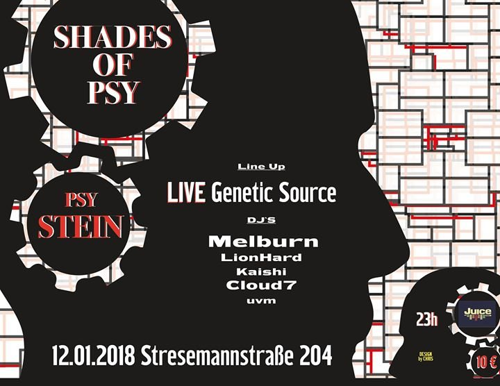 Party flyer: Shades of Psy - PSY STEIN 12 Jan '18, 22:00