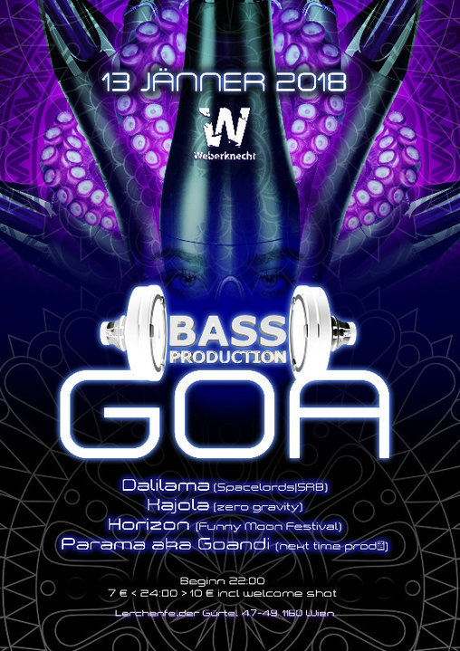 Bassproduction Goa Party 13 Jan '18, 22:00