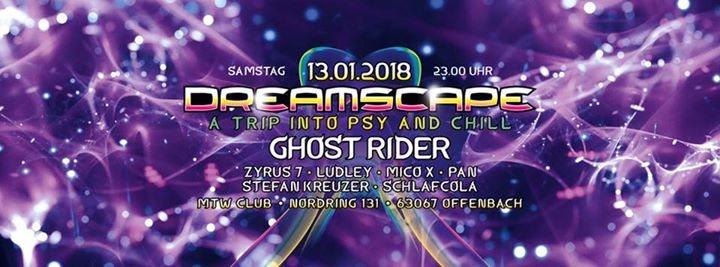 Party flyer: Dreamscape jan 2018 13 Jan '18, 23:00
