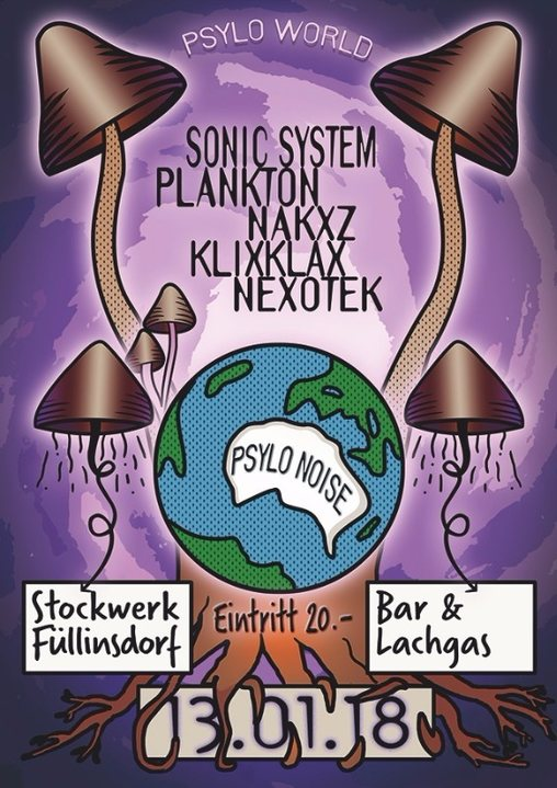 Psylo World with Sonic System, Plankton & Narxz 13 Jan '18, 22:00