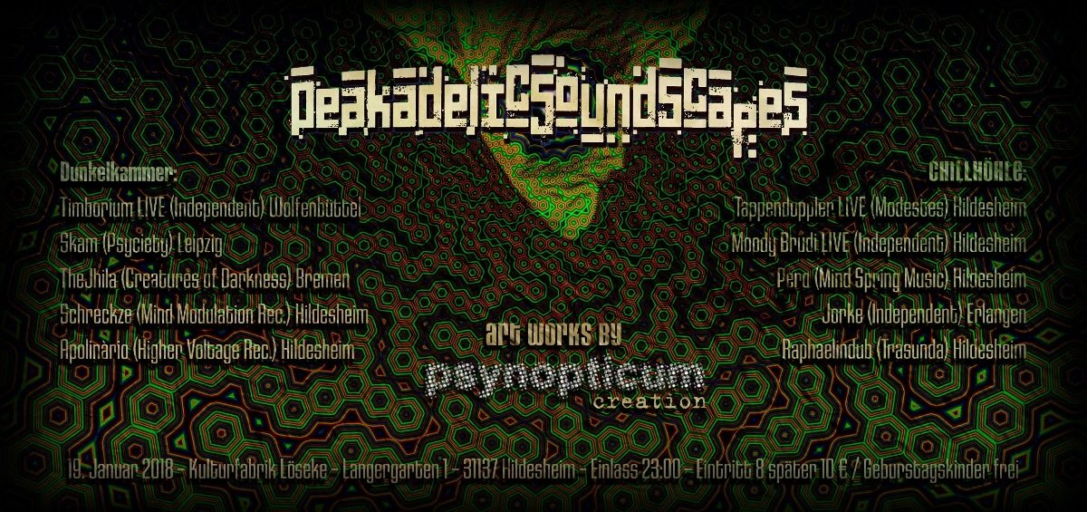 Party flyer: Peakadelic Soundscapes 19 Jan '18, 23:00