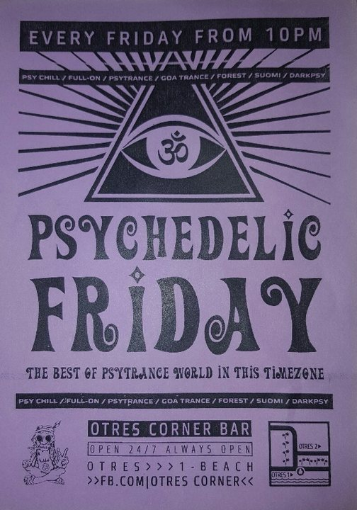 Psychedelic Friday 19 Jan '18, 22:00
