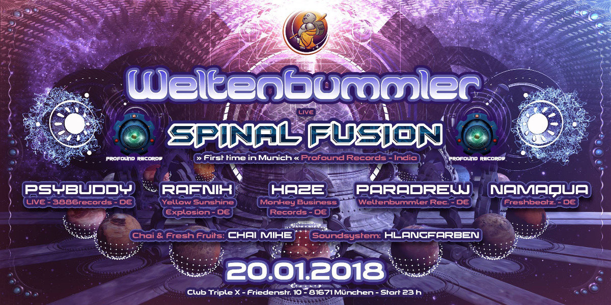 Weltenbummler with Spinal Fusion (live) // India 20 Jan '18, 23:00