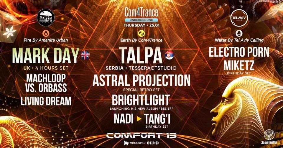 Com4Trance :Talpa ✪ Mark Day ✪ Astral Projection ✪ Brightlight 25 Jan '18, 01:00