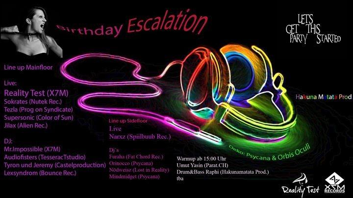 Party flyer: Birthday Escalation 27 Jan '18, 14:00