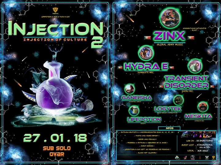 Injection 2 - Injection of Culture - Lifepotion & Piti bday 27 Jan '18, 23:59