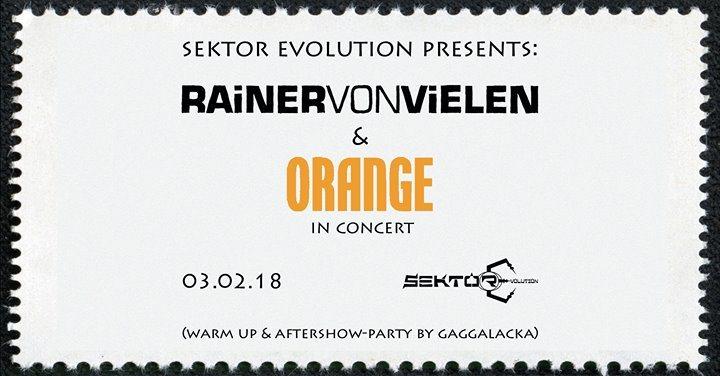 Rainer von Vielen & Orange // Konzert + Party 3 Feb '18, 21:00