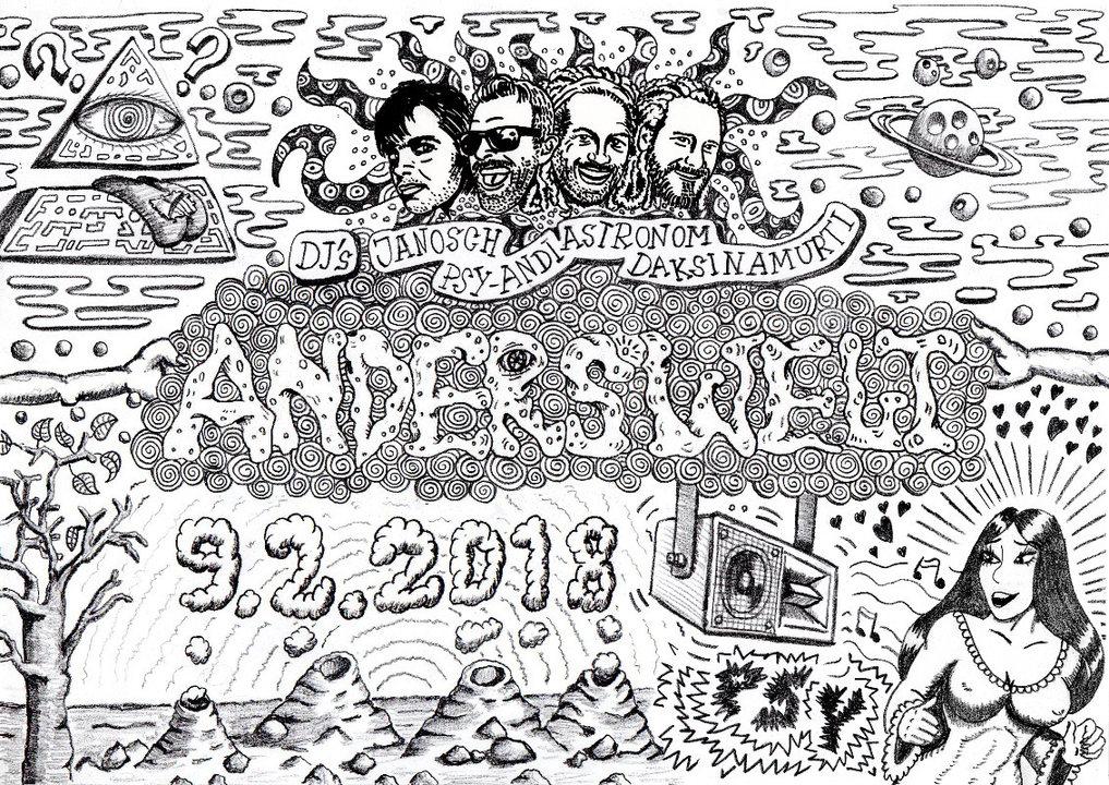 Anderswelt /// Daksinamurti / Janosch / Astronom / Psy-Andi 9 Feb '18, 23:00