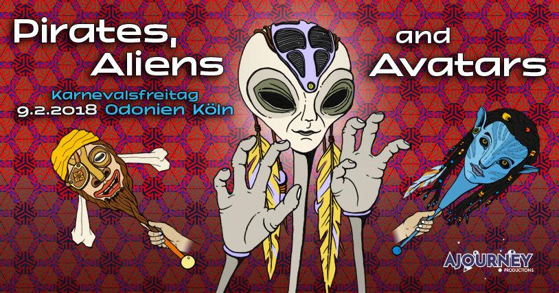 Pirates, Aliens & Avatars w/ Dust & Kularis 9 Feb '18, 01:00