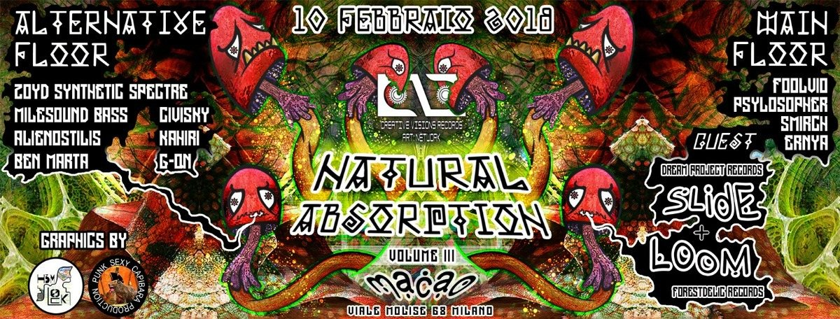 Slide + Loom (2h live set) - Natural Absorption Carnival 3th ed. | made by Cvr 10 Feb '18, 21:00