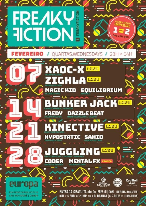 FREAKY FICTION 14 Feb '18, 23:00