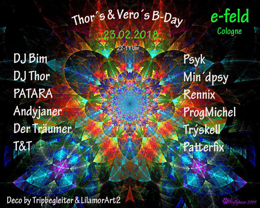 Thor´s & Vero`s Birthday Party 23 Feb '18, 22:00