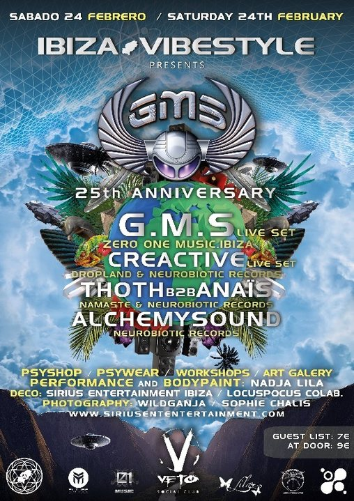 GMS 25th Anniversary ibiza Vibestyle 24 Feb '18, 20:00