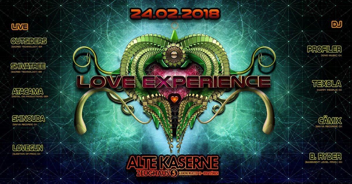 **LOVE EXPERIENCE** Alte Kaserne Zürich 24 Feb '18, 23:00