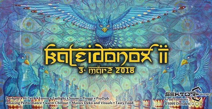 Party flyer: Kaleidonox II 3 Mar '18, 23:00