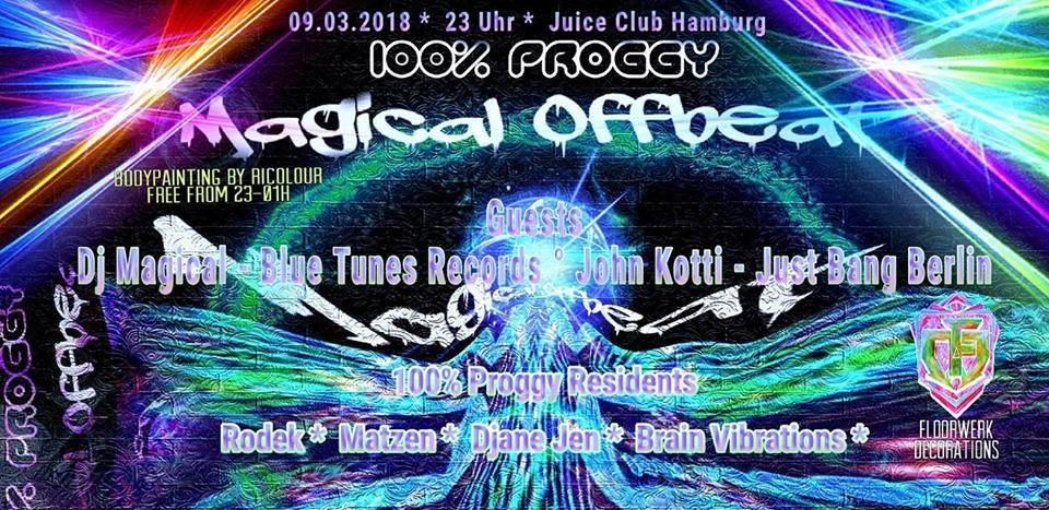 100% Proggy! Magical Offbeat 9 Mar '18, 23:00