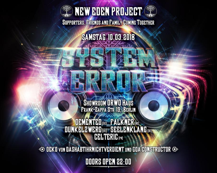 System Error (404) 10 Mar '18, 22:00