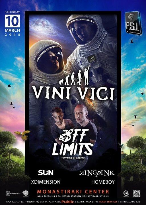 VINI VICI live in Athens! 10 Mar '18, 23:00