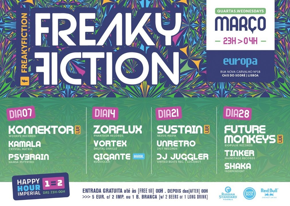 FREAKY FICTION 14 Mar '18, 23:00