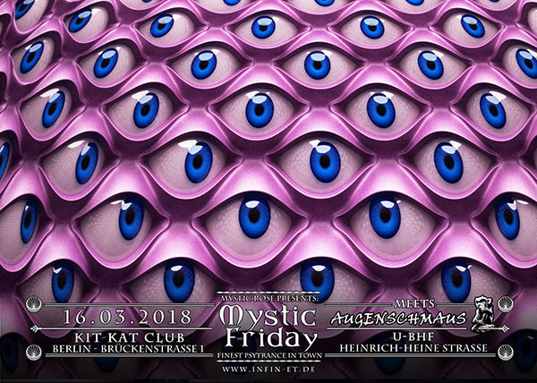 Mystic Friday meets Augenschmaus + Spacetribe 16 Mar '18, 23:00