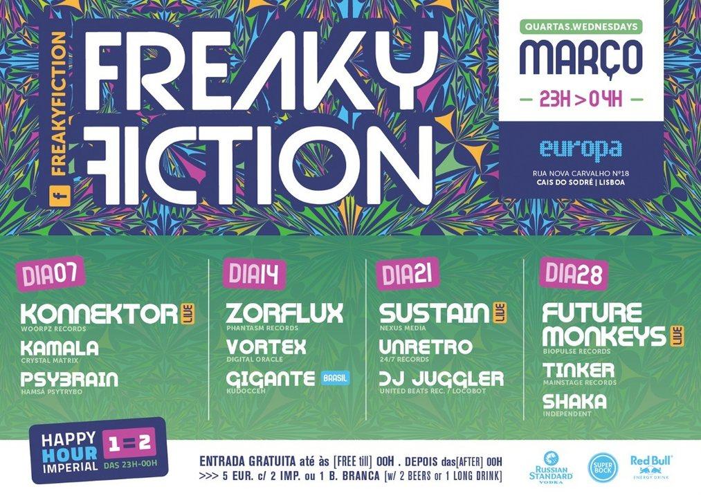 FREAKY FICTION 21 Mar '18, 23:00