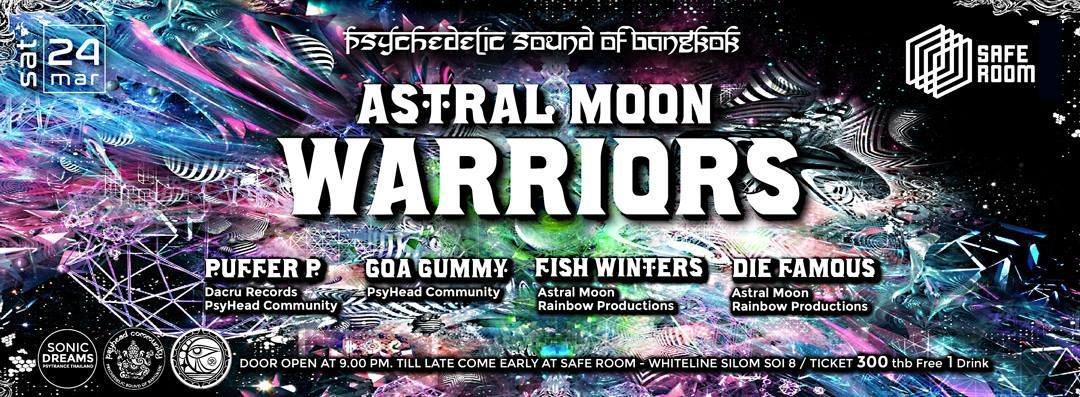 Psyhead Community pres, Astral Moon Warriors 24 Mar '18, 21:00