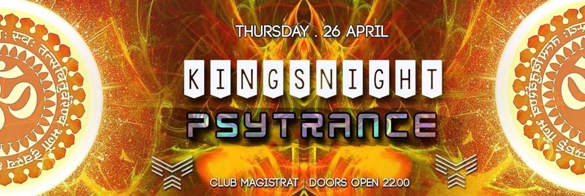 """Monkey Krew presents: """" Kingsnight Psytrance"""" 26 Apr '18, 22:00"""