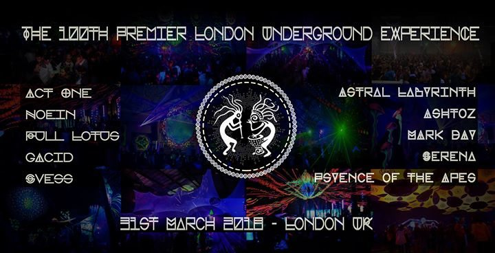 The 100th Premier London Underground eXperience ~ C 31 Mar '18, 22:00