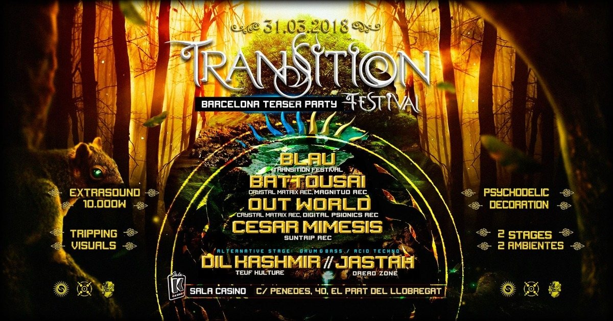 Transition Festival Teaser Party 31 Mar '18, 23:30