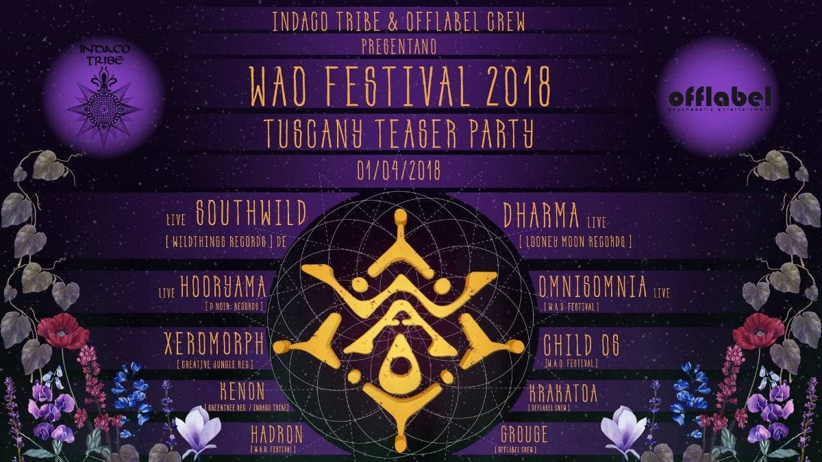 W.A.O. FESTIVAL teaser party 1 Apr '18, 22:00