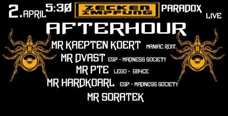 Afterhour presents by ZeckenImpfung 2 Apr '18, 05:30