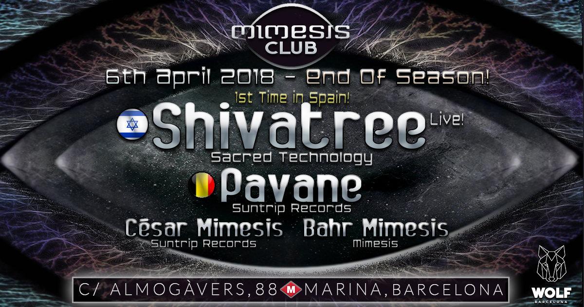 Mimesis CLUB END OF SEASON - April w/ SHIVATREE & PAVANE! 6 Apr '18, 23:30