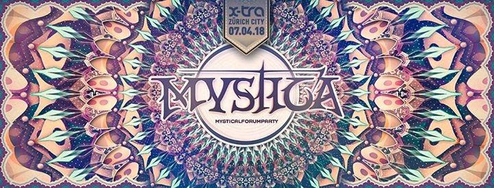 Party flyer: Mystica 2018 7 Apr '18, 21:00