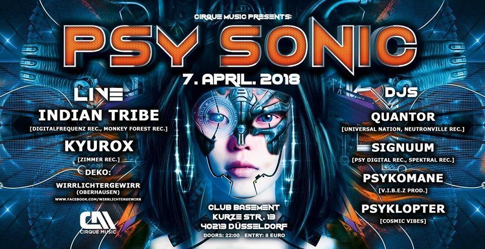 ·•••●●❂ PsySonic °Cirque De Nuit° ❂●●•••· 7 Apr '18, 22:00