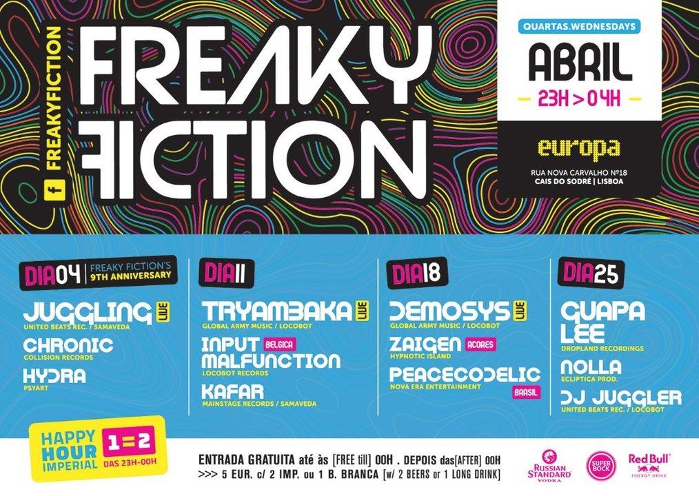FREAKY FICTION 11 Apr '18, 23:00