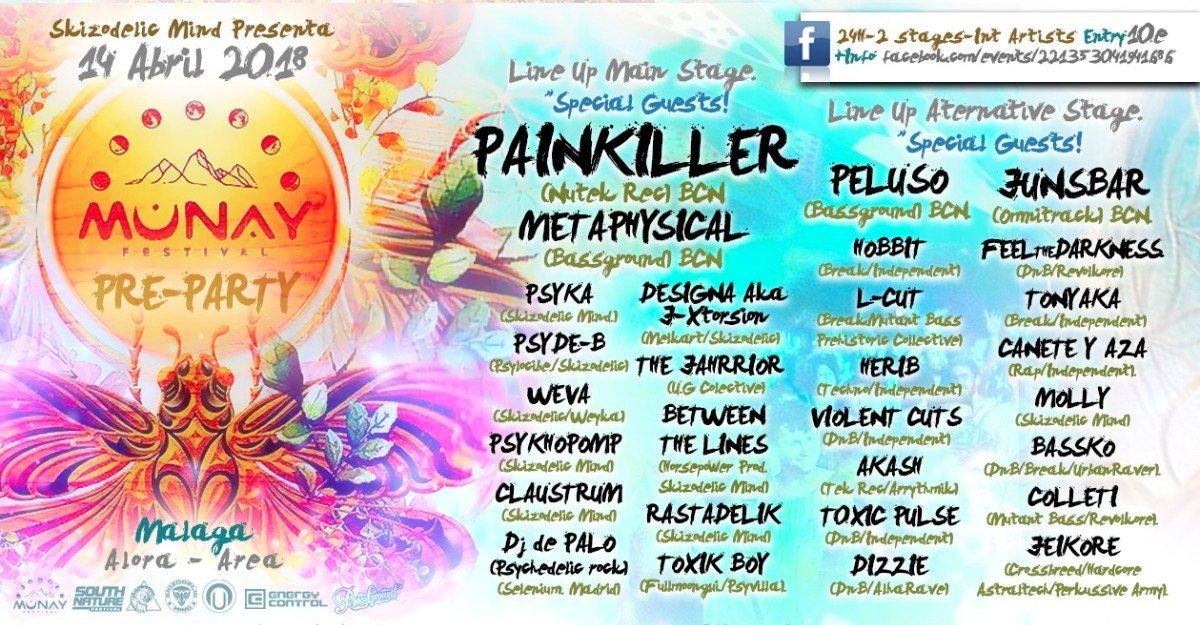 Teaser Party Munay Festival (Malaga.) 14 Apr '18, 16:00