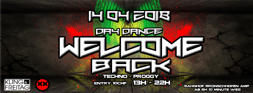 WELCOME BACK DAY DANCE 14 Apr '18, 13:00