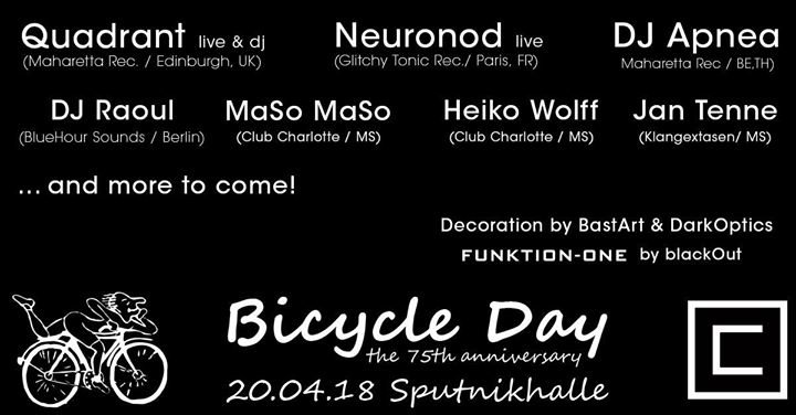 Bicycle Day - the 75th anniversary! 20 Apr '18, 23:00