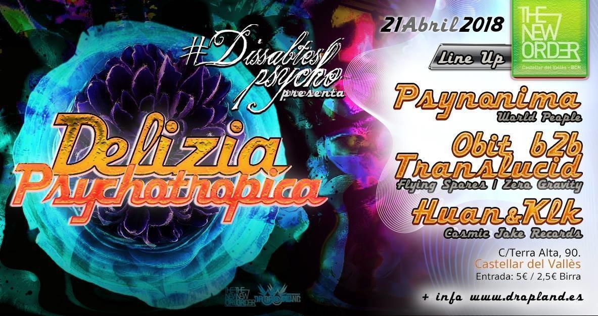 Dissabtes Psycho - Guest: Djane Psynonima & friends 21 Apr '18, 23:30