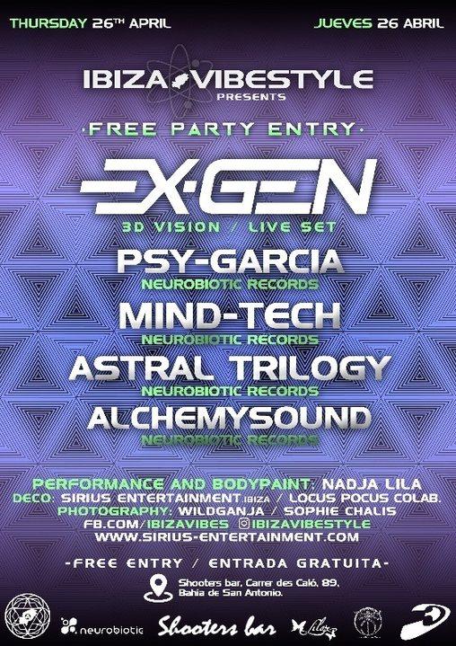 Free Party ibiza Vibestyle EXGEN Live Set 26 Apr '18, 22:00