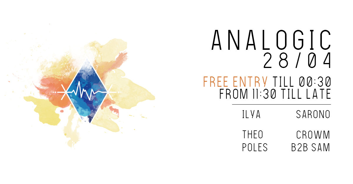 Free ENTRY Analogic 28/04 28 Apr '18, 22:00