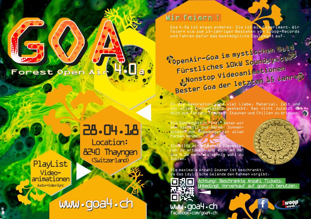 Goa 4.0a Forest OpenAir 28 Apr '18, 19:00