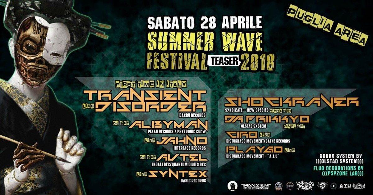 SHOCKRAVER /// Puglia AREA - Summer Wave Teaser 28 Apr '18, 22:00