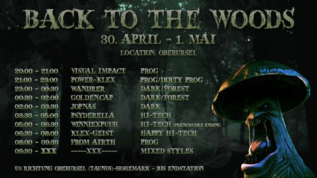 Back to the Woods 30 Apr '18, 21:00