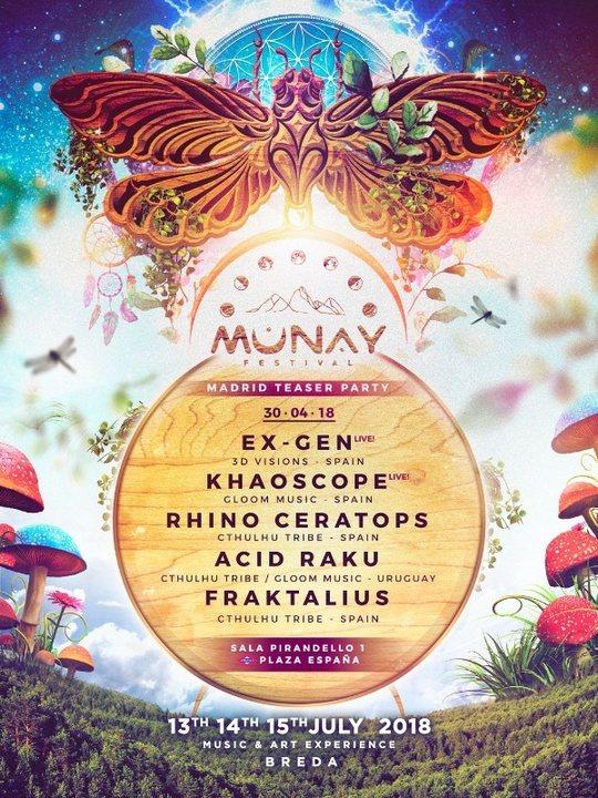 MUNAY FESTIVAL GOES TO MADRID 30 Apr '18, 23:30