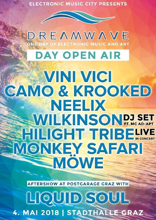 DREAM WAVE Festival Day 2018|Vini Vici, Neelix, Hilight Tribe, Camo&Krooked uvm 4 May '18, 12:00