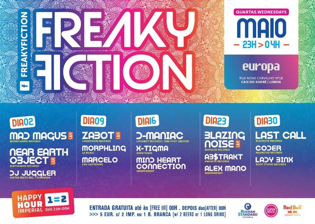 FREAKY FICTION 9 May '18, 23:00