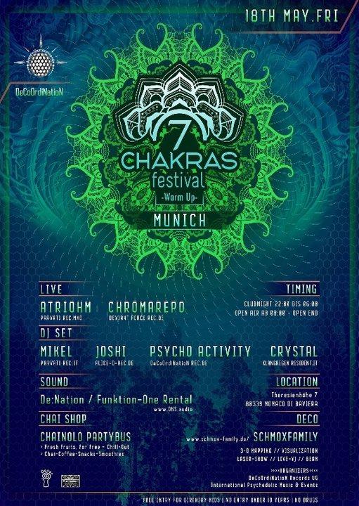 7 Chakras Festival 2018 Warm Up in Munich w / F1 18 May '18, 22:00