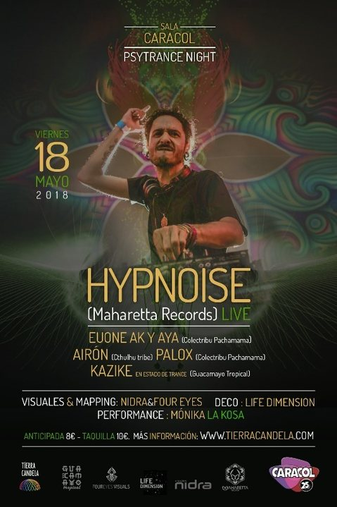 who is coming psytrance night en madrid con hypnoise