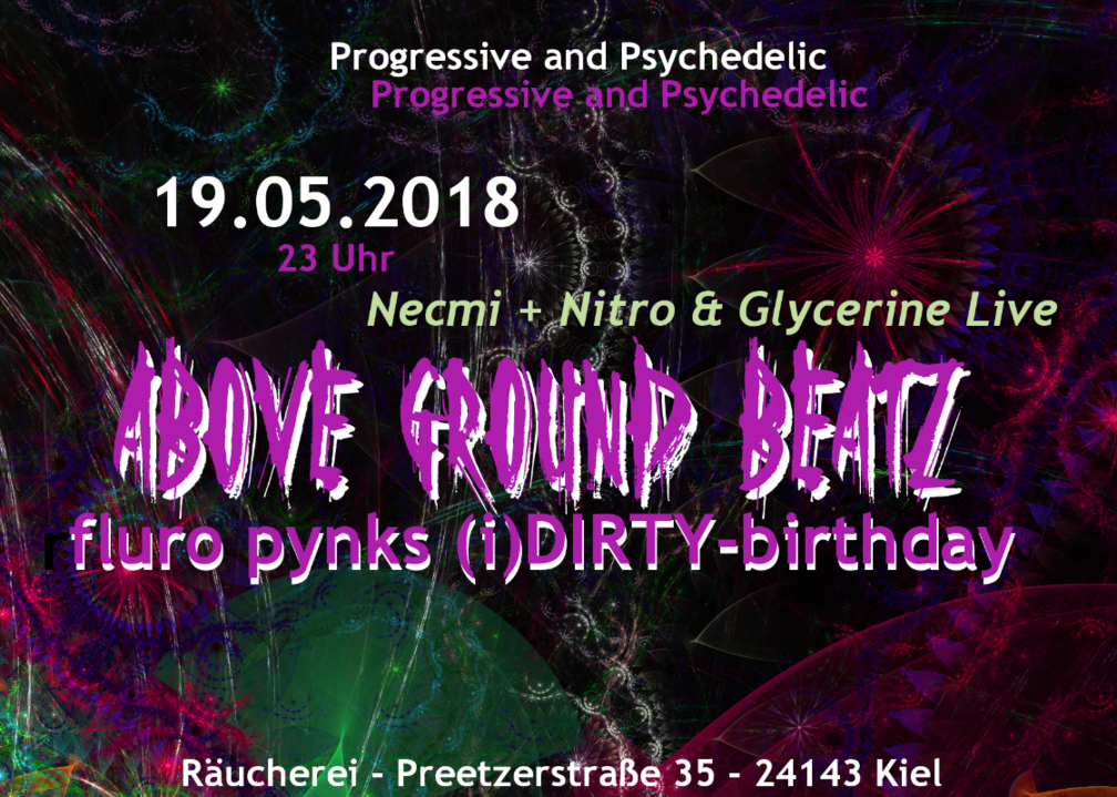 "AboveGroundBeatz ""Fluro Pynks (i)DIRTY-birthday"" Live: Necmi 19 May '18, 23:00"